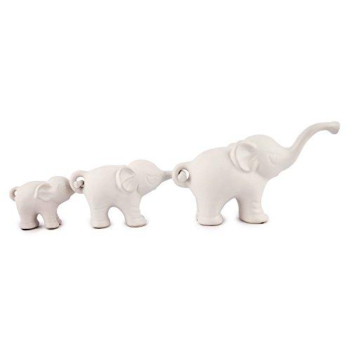 pajoma Elefanten-Trio ''Family II' aus Porzellan, L 26,5 x B 8,5 x H 15 cm
