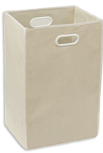 Simple Houseware Foldable Closet Laundry Hamper Basket, Beige