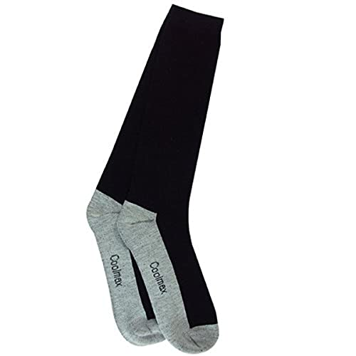 Intrepid International CoolMax Boot Socks, Black, Medium