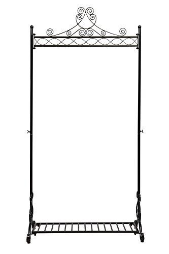 NEUN WELTEN Design Appendiabiti a Abbigliamento Appendiabiti Rack Scarpiera in Metallo–Nero