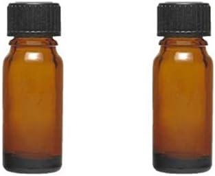 Mikken - Botellas con cuentagotas (2 unidades, 10 ml, cristal marrón, sin BPA, fabricado en Alemania, incluye etiquetas, cristal, marrón, 10 ml)