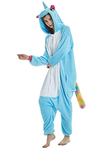 PENGMAI Adulte Unisexe Licorne Anime Animal Costume Cosplay Combinaison Pyjama Halloween Noel Party...