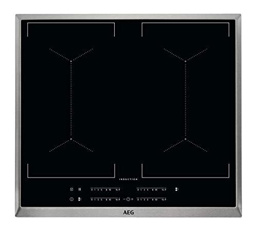 AEG IKE64450XB Autarkes Kochfeld / Herdplatte mit Touchscreen & Topferkennung / Induktionskochplatte / 4 Kochzonen / Edelstahlrahmen / Kindersicherung / 60 cm