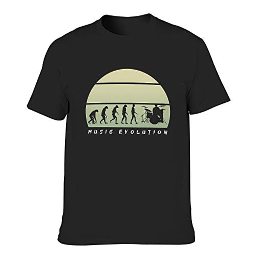 Herren Musikentwicklung Baumwolle T-Shirts - stilvoll T-Shirt Black XL