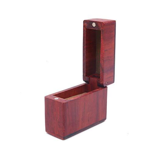 Shiwaki 1.9'x0.7 x1.6 Caja de Anillo de Madera Caja de Anillo de Compromiso Caja de Anillo de Boda Caja de Anillo de joyería Caja de Madera Forma Ovalada Cajas - Madera de cártamo
