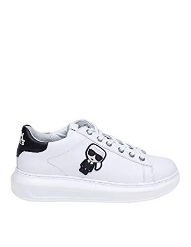 Karl Lagerfeld Luxury Fashion Damen KL62530011 Weiss Leder Sneakers | Frühling Sommer 20