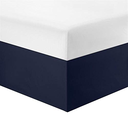 Bed Skirt Bed Base Cover Pure Color Easy Fit-Bett-Rock Hotels Elastic Band ohne Bett Oberflächen Wrap Around Königin Staub Rüschen Twin/Full/Queen/King (Color : Blue, Size : Queen)