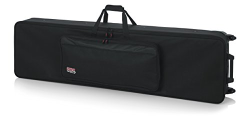 Gator Cases Lightweight Rolling Keyboard Case for Slim Extra Long 88 Note Keyboards and Electric Pianos (GK-88 SLXL)
