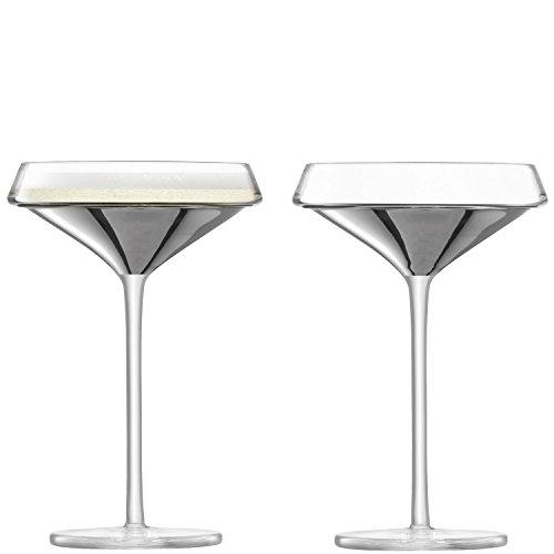 LSA International G1487–09–359 Espace Champagne/verre à cocktail 240 ml X 2, Platinum