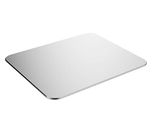 Jelly Comb Gaming Aluminium Mauspad, Aluminium-Mausunterlage mit Anti-Skid Gummiunterseite (24,6 x 20,2 x 0,2CM) (Silber)