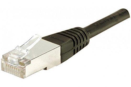 Dexlan - Cable de Red RJ45 (SSTP, Cat. 6, 15 cm), Color Negro