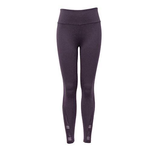 WXX Running Yoga Niña Transpirables para Yoga Púrpura Mallas Gym Yoga para Mujer Pantalones De Running De Cintura Alta Medias De Fitness