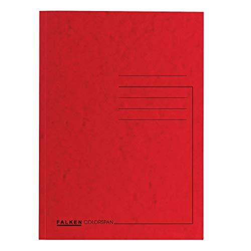Original Falken 25er Pack Premium Aktendeckel. Made in Germany. Aus extra starkem Colorspan-Karton für DIN A4 rot Blauer Engel Hefter ideal für das Büro und Schule und die mobile Organisation