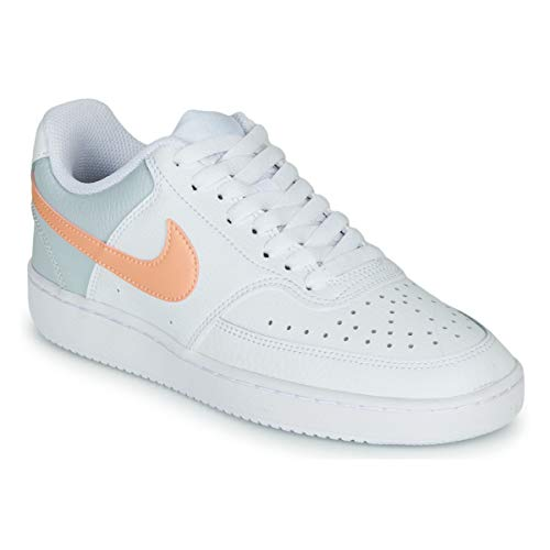 Nike WMNS Court Vision Low - White/Washed Coral-Aura-Pale Ivory, Größe:8