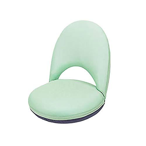 KangHan Ergonomischer Bettstuhl, Verstellbarer und klappbarer Liegesofa-Stillstuhl Taillenschutz Fünfgang- und High-Density-Feder,Grün