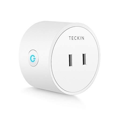 「Amazon Alexa認定取得製品」TECKIN スマートプラグ WiFi スマートコンセント Echo Alexa Google ホーム対応 遠隔操作 スケジュール設定 2.4GHzで動作 直差しコンセント ハブが必要なし 1個セット