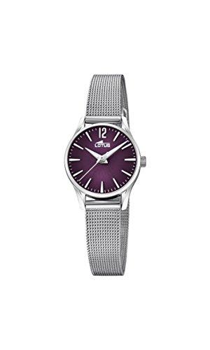 Lotus Watches Reloj Análogo clásico para Mujer de Cuarzo con Correa en Acero Inoxidable 18571/6