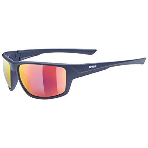 uvex Unisex– Erwachsene, sportstyle 230 Sportbrille, blue mat/mirror red, one size