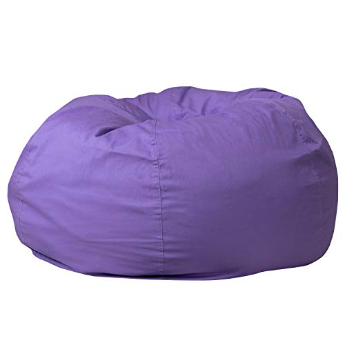 Flash Furniture Oversized Solid Purple Bean Bag Chair