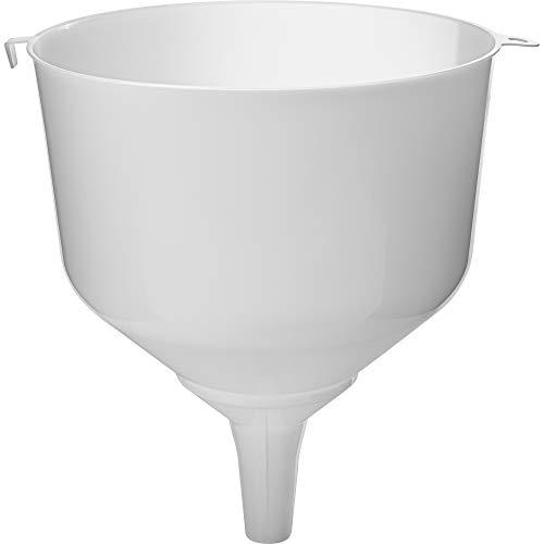 Trichter φ 25 mit hohem Rand für Ballons + Sieb, sehr engmaschig zum Umgießen und Filtern von großen Mengen von Flüssigkeit