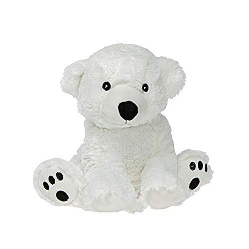Peluche bouillotte Ours Polaire - Made in France