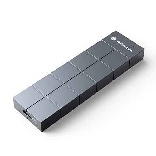 Yottamaster Caja M.2 SATA para B Key B+M Key 2230/2242/2260/2280 M.2 SSD, USB3.1 Type-C Carcasa M.2 SATA SSD [HC3]