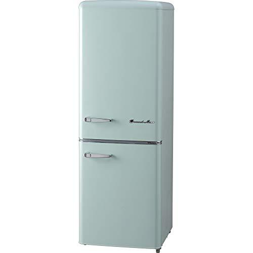 Grand-Line 2ドアレトロ冷凍冷蔵庫 198L ARE-198LG ライトグリーン