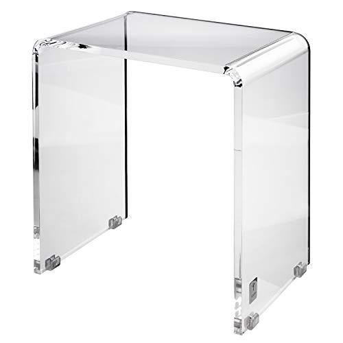 JOOP Lifestyle Duschhocker Badhocker Badezimmer Klar Acryl Maße: 42 cm x 47 cm x 30 cm