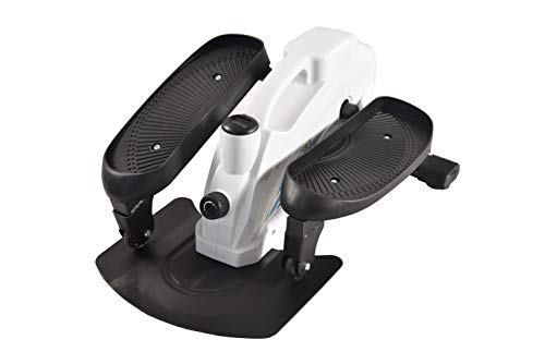 PROHIKER Under Desk Elliptical Bike,Trainer Machine,Mini Elliptical Machine with Non-Slip Pedal, Display Monitor and Adjustable Resistance,Mini Desk Cycle Resistance Exercise Quiet & Compact (White)