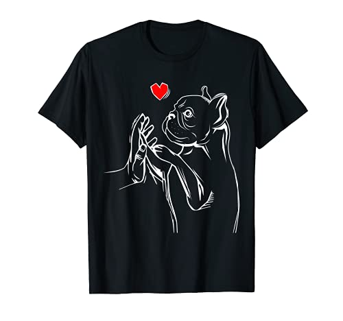 French Bulldog Frenchie Love Cute Dog Mom Funny Girls Gift T-Shirt