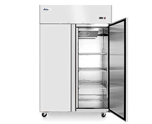 HENDI Kühlschrank, Zweitürig, auf Radern, mit UmluftküHlung, 0 bis 8°C, Inklusive 6 Fachböden GN 2/1, je Boden bis 40kg belastbar, 1300L, 230V, 350W, 1314x805x(H)2065mm, Edelstahl