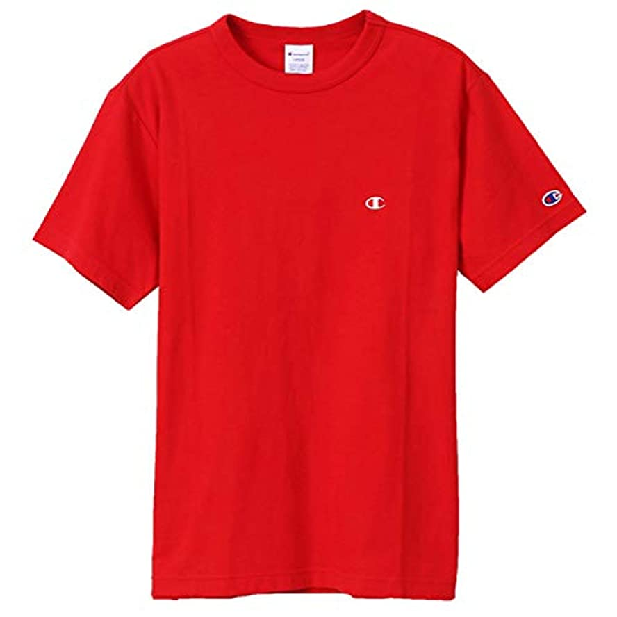 起こる敬な代表団チャンピオン Tシャツ メンズ CHAMPION ベーシック チャンピオン 19SS 胸Cロゴ ワンポイント レッド