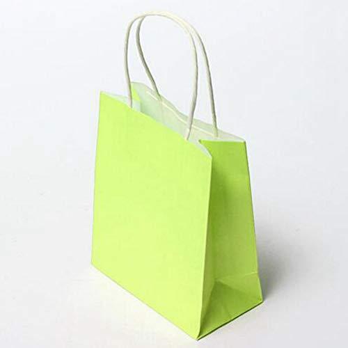 Bluelover Kleurrijk kraftpapier geschenktasjes bruiloftsfeest handvat papieren cadeauzakje