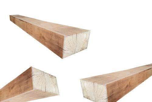 Holzpfosten aus Eichenholz - Kantholz Eichen Pfosten Holz Pfahl (10x10 x 200 cm)