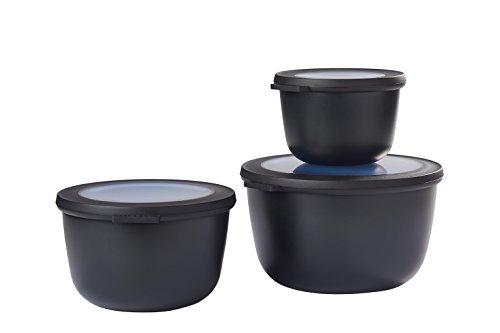 Mepal Black cirqula Set 3 dlg, Plastik, Nordic Schwarz, 19.2 x 12 cm