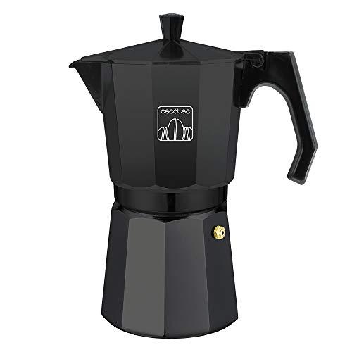 Cecotec cafetera Italiana Mimoka Fabricada en Aluminio Fundido Hacer café con el Mejor Cuerpo y Aroma (Mimoka 900, Black)
