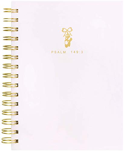 Bella Paper Praise with Dance Journal Soft-Touch Hardcover Wirebound Journal (6.5' x 8') - Psalm 139:3