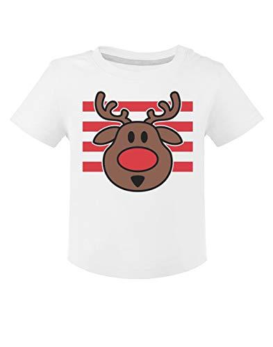 Camiseta para niños - Ropa Navidad Bebe - Ciervo de Navidad 18M Blanco