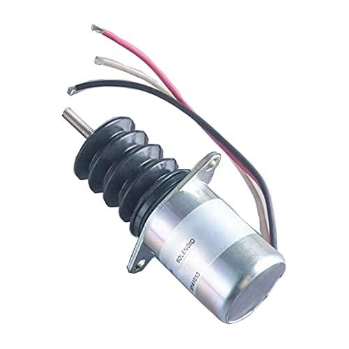P610-A1V12 Électrovanne d'arrêt 12V - SINOCMP Solénoïde d'arrêt pour pièces de rechange de moteur TROMBETTA, garantie de 3 mois