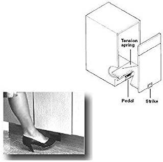 toe kick cabinet opener