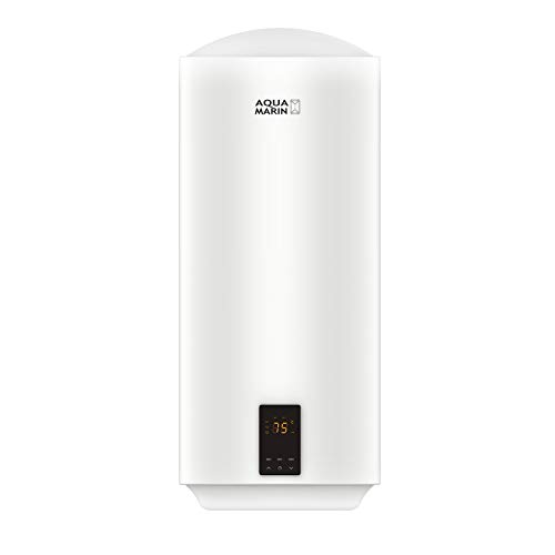 Aquamarin® Elektro Warmwasserspeicher - 30/50/80/100 L, 2 kW, Wandhängend, Smart, EEK A/B, emaillierter Innenbehälter - Boiler, Warmwasserboiler, Elektrospeicher, Heizung, Speicher (100 L)