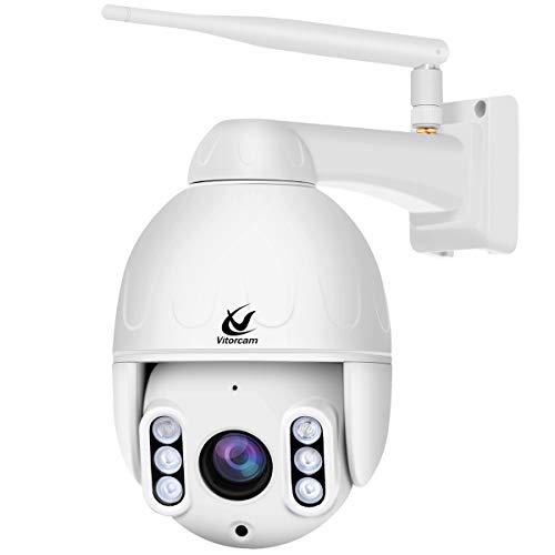Vitorcam 5.0MP 1920P Cámara IP Exterior, Cámara PTZ Vigilancia WiFi Motorizada 5 X Zoom Soporte PoE + Modo WiFi
