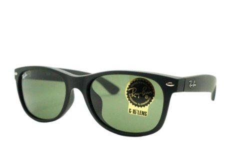 Ray-Ban Gafas de sol Wayfarer - Rb2132F / Frame: Negro/Azul superior de Alcantara lente: Verde-Rb2132F623955 Caucho negro
