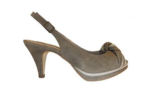 Donna Piu Damen Sandalette SUSI Wildleder 3353 braun beige Größe 37