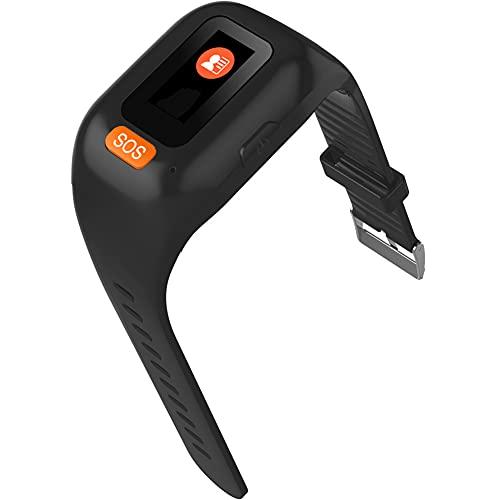 Nlight Alarma De Ataque Personal Ancianos GPS Reloj Inteligente Pulsera Rastreador En Tiempo Real, Modo De Carga Portátil Pulsera SOS Reloj De Autodefensa De Emergencia para Ancianos