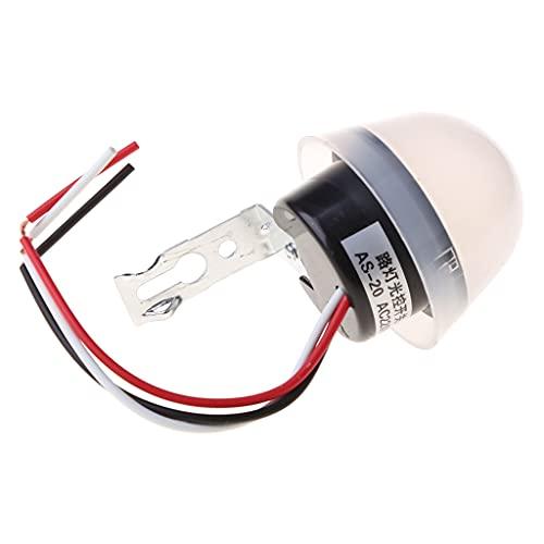 MISHITI AS-20 impermeable automático automático encendido apagado interruptor 220V del sensor de la luz de calle de la fotocélula