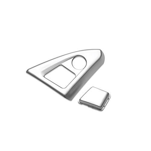 PEIPEI HanGao Chrome Interior Center Console Apoyabrazos Botones Cubre el Ajuste Pegatinas Guante de la Caja de Interruptor de la manija en Forma for el BMW Serie 5 F18 F10 525 528 Elegante y Hermoso