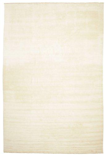 CarpetVista Alfombra Handloom Fringes - Blanco Crudo 400x600 Alfombra Moderna