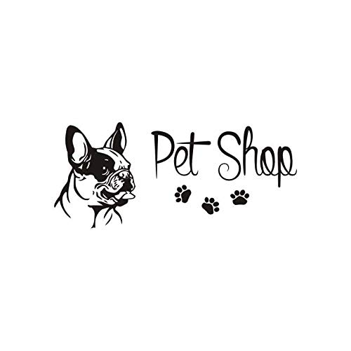 Tianpengyuanshuai Dog Grooming Pet Shop Sticker Decal Poster Wall Decal Murale Decorativo Murale Pet Shop Decal 80x35cm