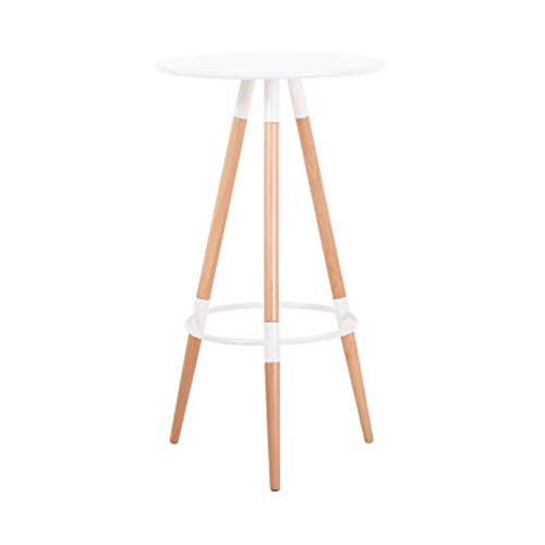 Yamyannie Side Table Small Coffee Round Table Side Table Sofa End Table Bedside Snack Table For Living Room Bedroom Garden Balcony for Bedroom (Color : White, Size : 60x60x105cm)